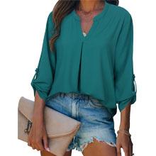green blouses for women fashion 2021 dressy tunics for work retro elegant  blouses chiffon