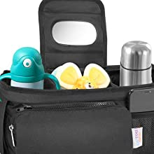 Lil Tots Gear Stroller Caddy Cup Holders