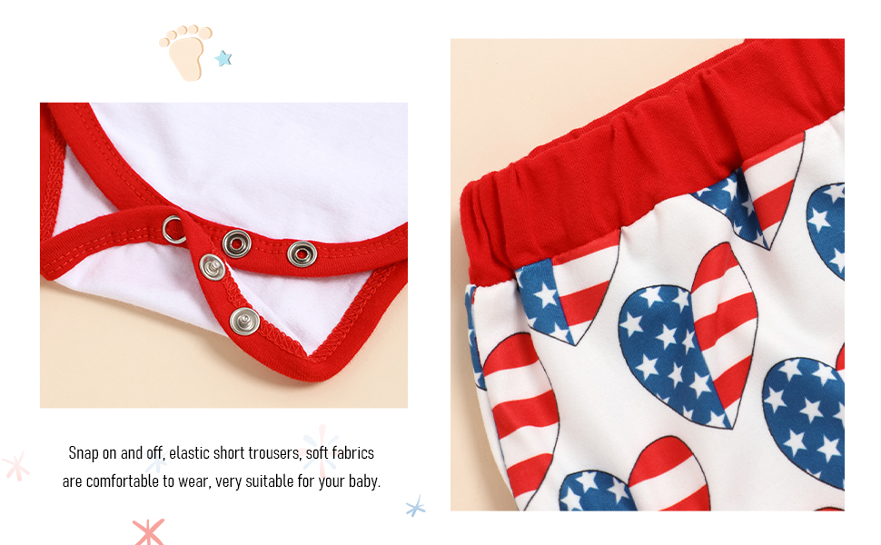 Easy to change diaper with snap button. Elastic waistband, not easy to fall off