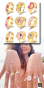 Y2K Colorful Rings