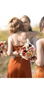 Terracotta Bridesmaid Bouquet (Set of 5)