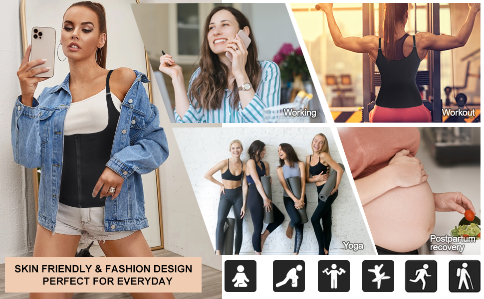 Skin friendly& Fashion design,perfect for everyday and workout