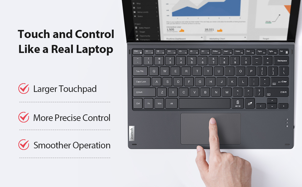 larger touchpad
