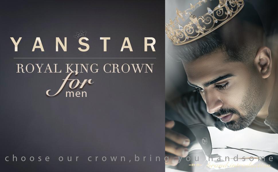 royal king crown for men