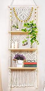 3 Tier Macrame  Shelf