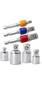 Socket Drive Adapters amp;amp; Reducers Set for Power Drill Drivers amp;amp; Ratchet Wrenches