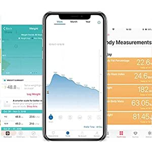 slimme weegschaal lichaamssamenstelling track fitness monitor analyse digitaal bluetooth wegen