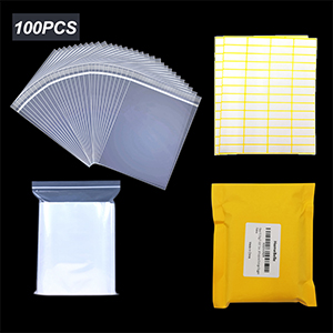 3x4.3 2mil clear plastic poly bags