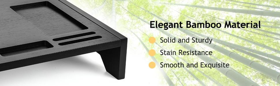 Bamboo Monitor Stand