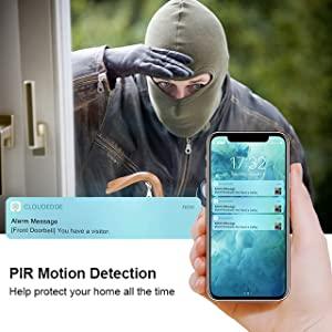 PIR Motion Detection & Instant Alerts