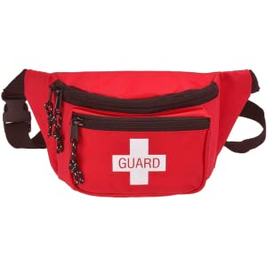 Lifeguard Fanny Pack With Whistle Lanyard - Baywatch Style