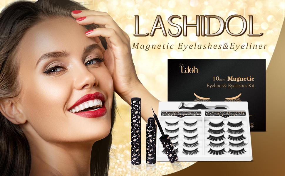 10 pairs Magnetic Eyelashes& Eyeliner