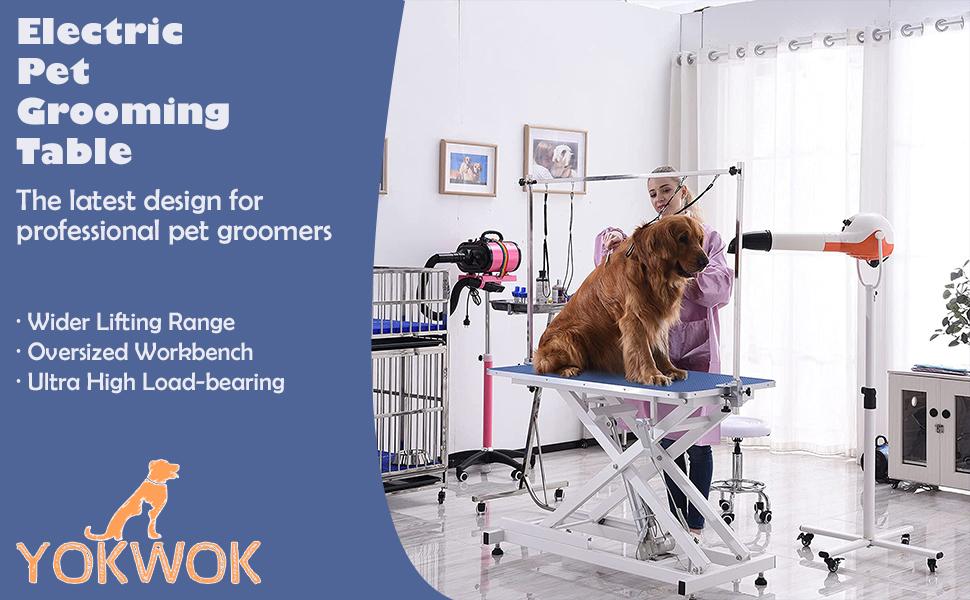 YOKWOK Electric Pet Grooming Table
