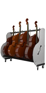 double bass storage cart