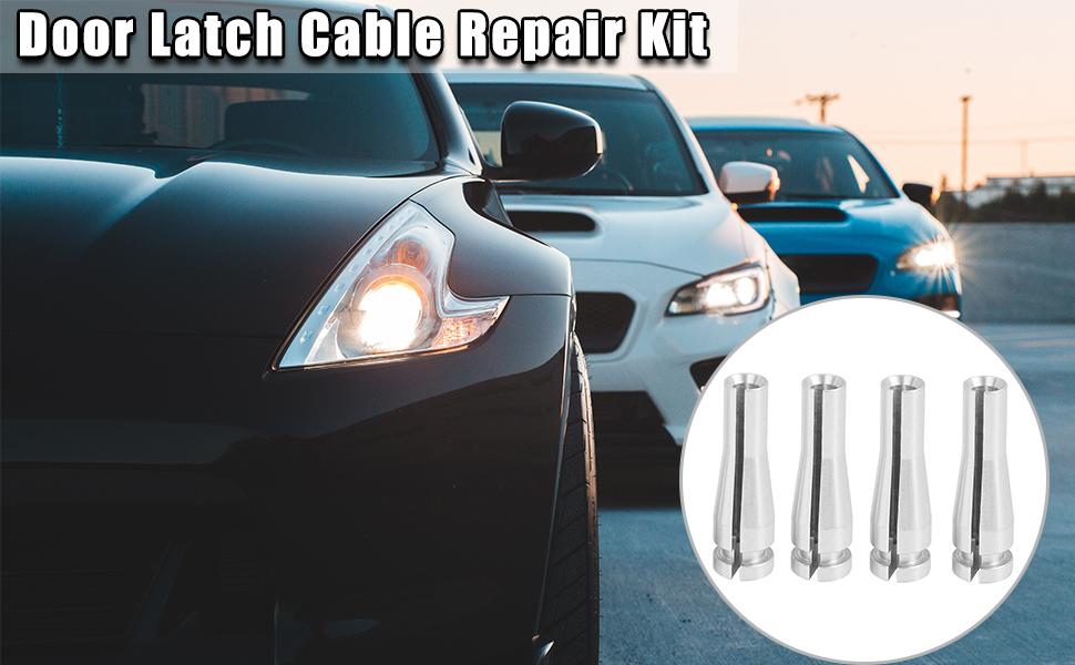 X AUTOHAUX Rear Door Cable Repair Kit Latch Lock Cable