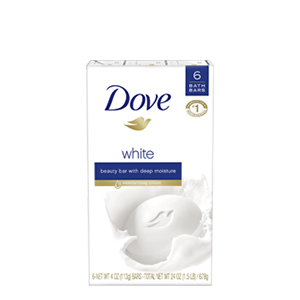 Dove White Beauty Bar (6 bars), with 1/4 moisturizing cream, gives you soft, smooth, radiant skin