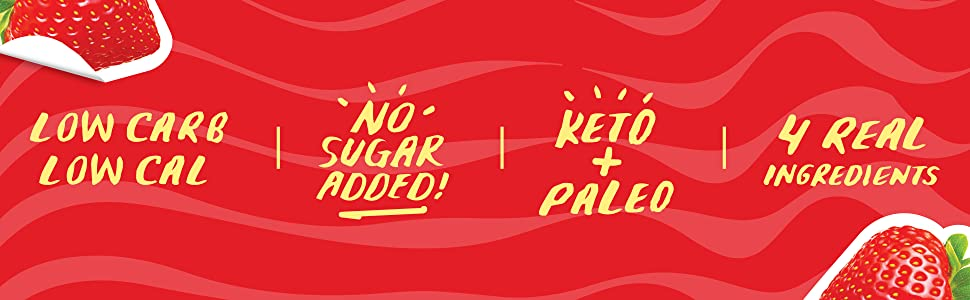 low carb low cal no sugar added keto paleo four real ingredients