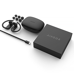 AIHOOR A7 Wireless In-Ear Headphones for iPhone and Android Phones, Mac, Laptop, iPad, iOS