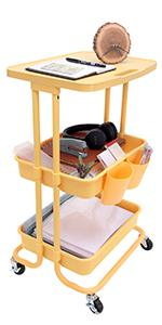 3-Tier Rolling Organizer Cart with Tabletop