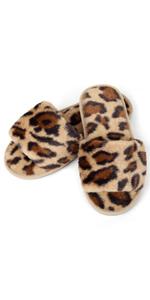 Fuzzy Open Toe Slippers