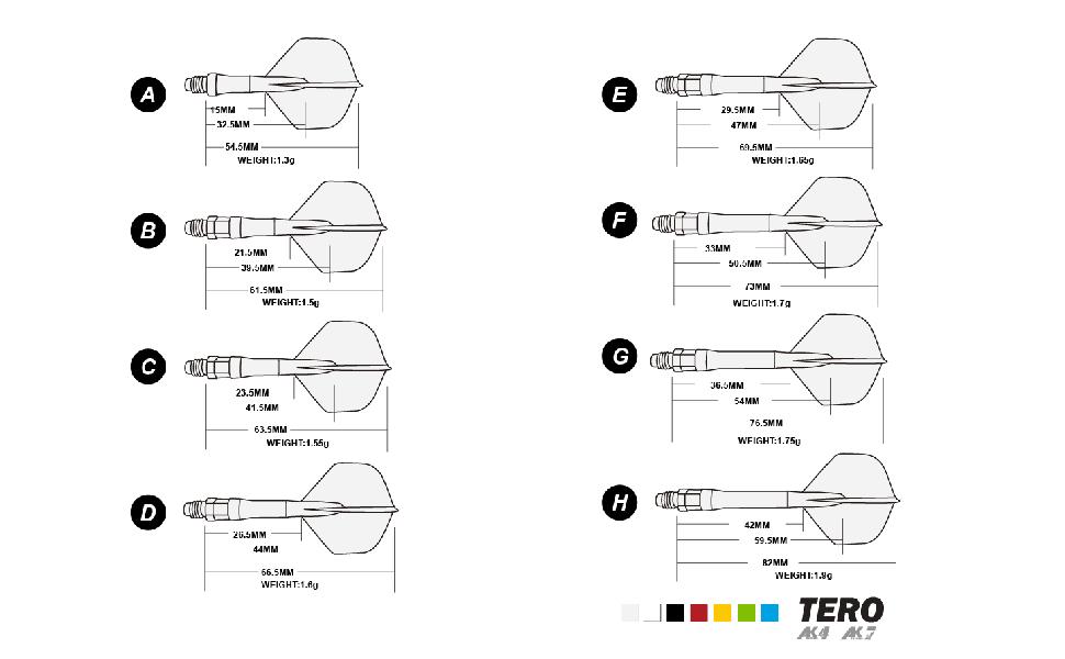 dart shaft shape