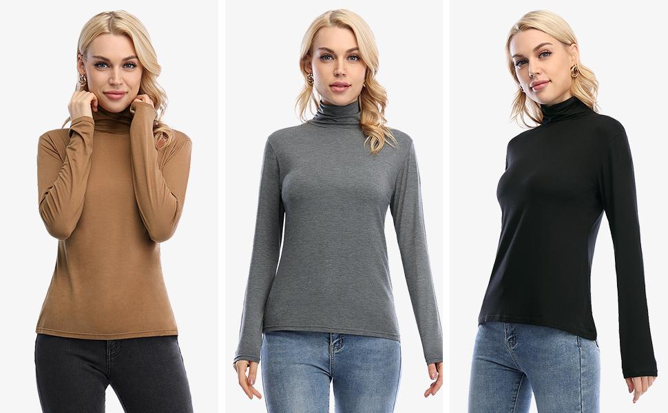 womens turtleneck shirts