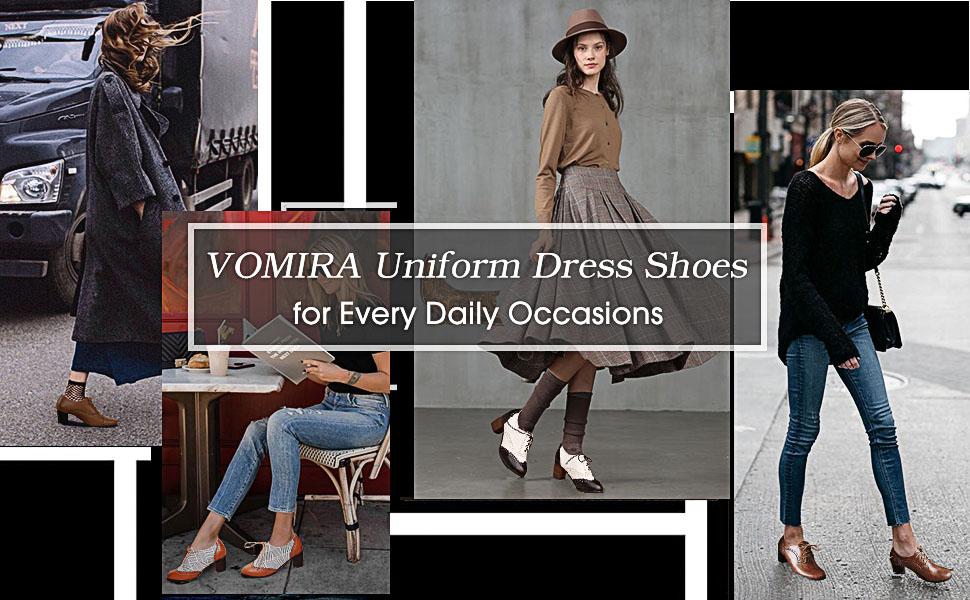 VOMIRA Uniform Dress Shoes