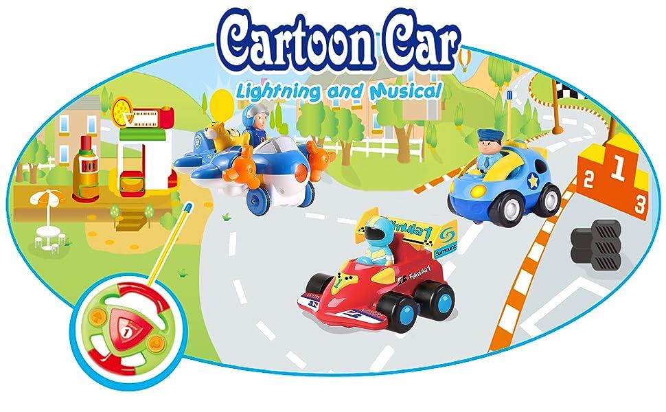 2 Channel Beginners Cartoon R/C Race Car