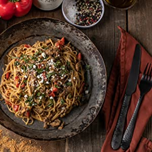 Wild Boar Sausage and Goat Cheese Pasta
