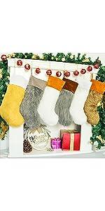 Fur Christmas Stockings