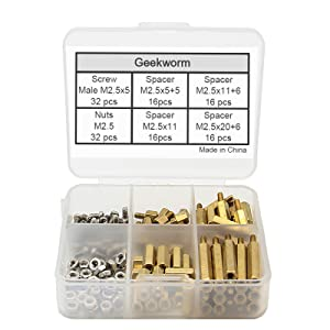 124pcs screws pack