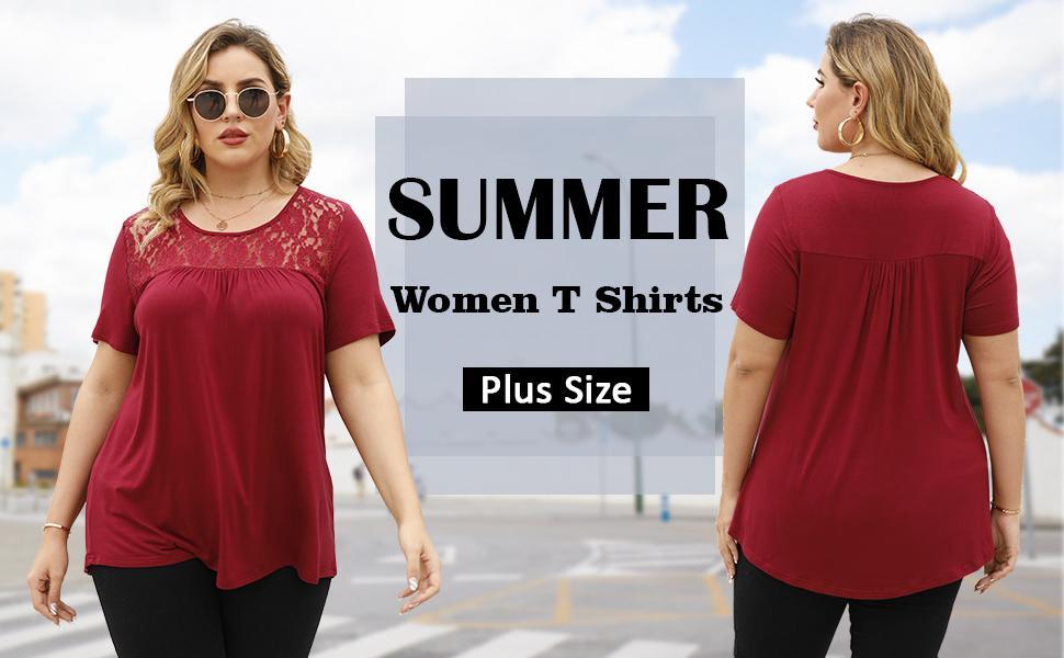 women plus size t shirts