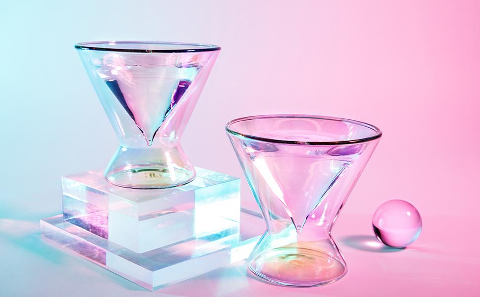 dragon glassware double walled martini glasses