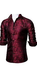 red black dress shirts for men business wedding