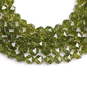 Natural Faceted Green Peridot Round Ball Beads 6-7mm Peridot Gemstone Beads Peridot Faceted Round Shape 18 Strand Top Quality