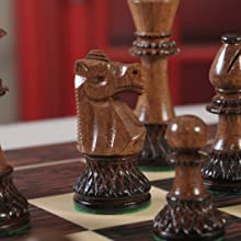 The Club Series Chess Set - Burnt Golden Rosewood