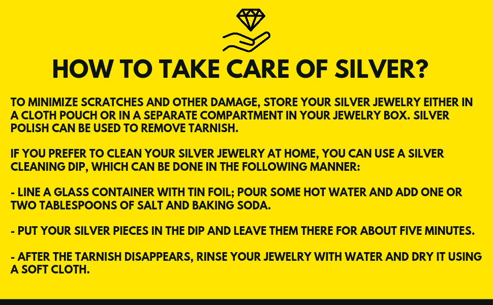 How to take care silver?