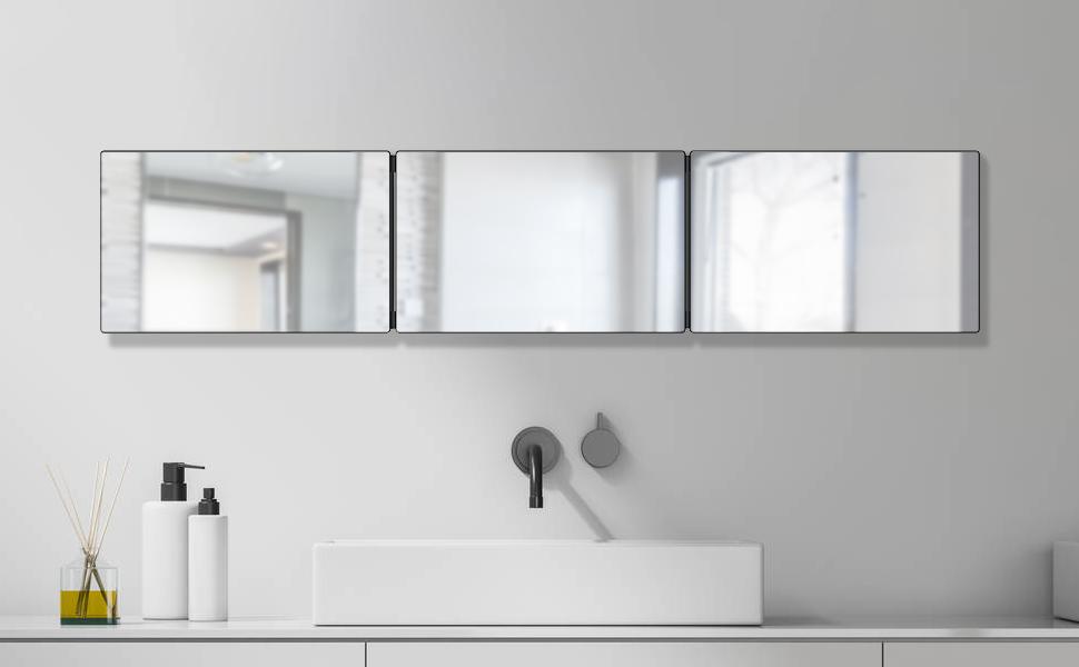 Wall-mounted Three-sided Mirror
