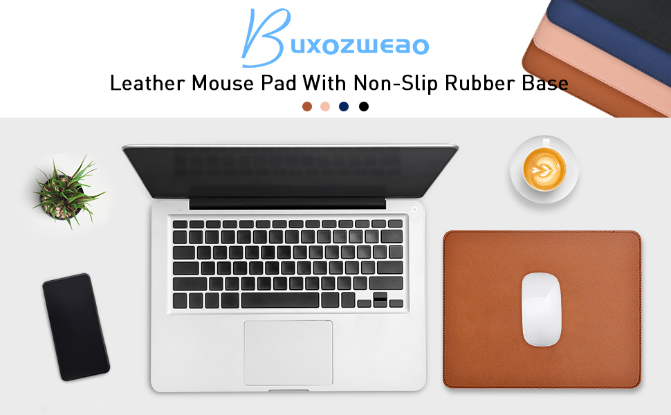 Buxozweao leather mouse pad