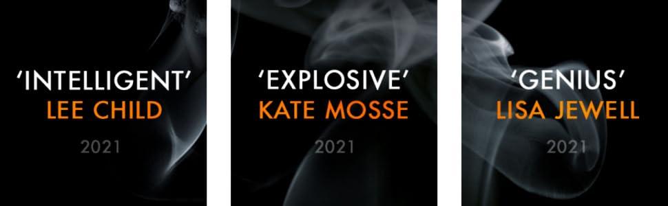 'Intelligent' Lee Child, 'Explosive' Kate Mosse, 'Genius' Lisa Jewell