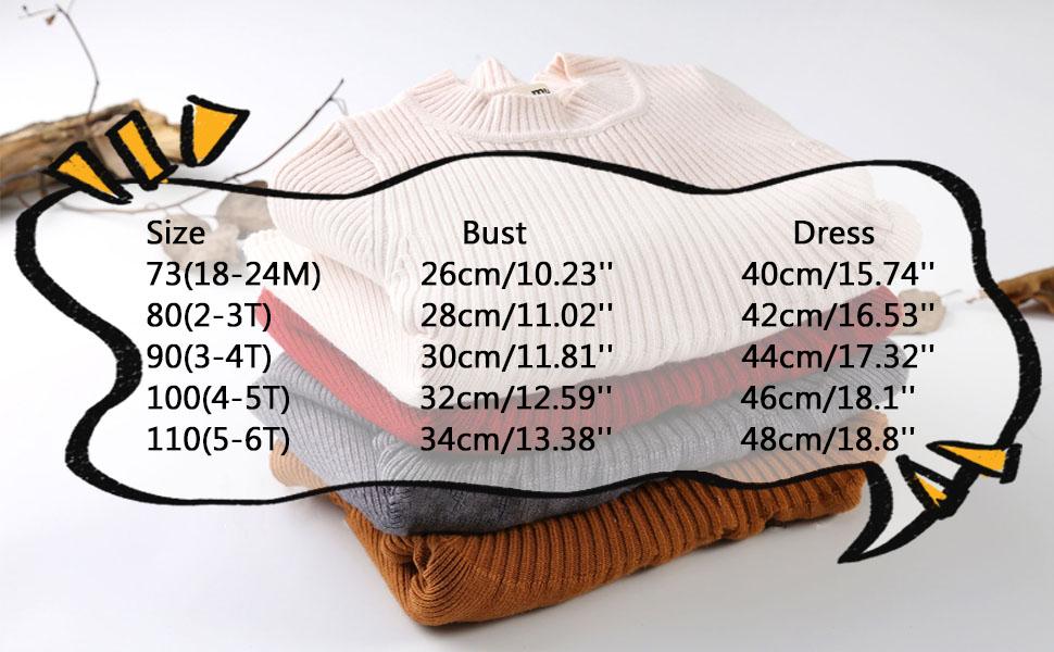 girls sweater size chart