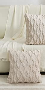 faux wool throw pillow
