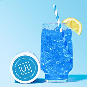 Ice cold drink made with Ultima Replenisher, Blue Raspberry
