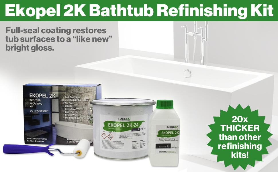 Refinished Bath Solutions Ekopel 2K Bathtub Refinishing Kit