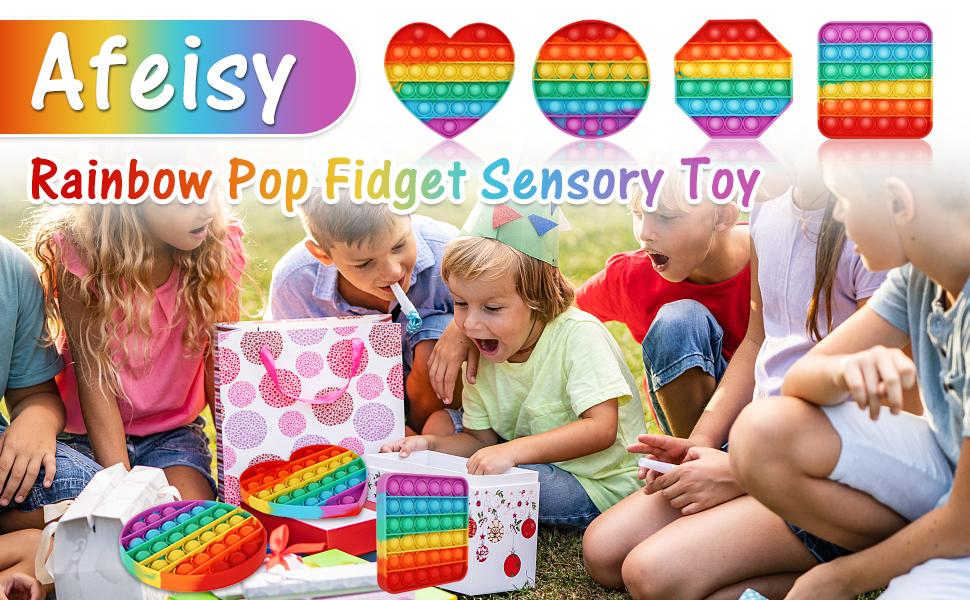 Rainbow Pop Fidget Sensory Toy