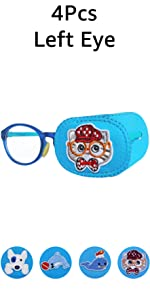 Astropic 4Pcs Eye Patches for Kids Glasses boys