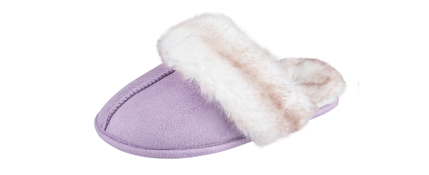 jessica simpson womens girls scuff slipper fluffy faux