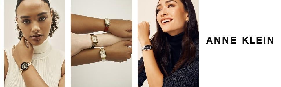 Anne Klein Womens Genuine Diamond Dial Bangle Watch