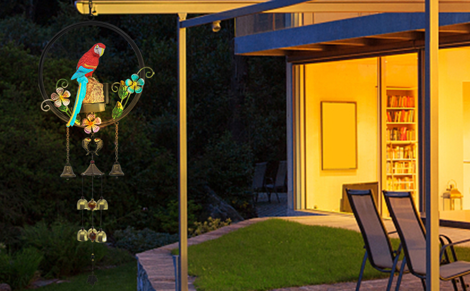 Parrot Bird Wind Chime for outside