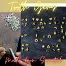 Tooth gems made from scratch of 925 sterling silver beautiful gold plated different symbols